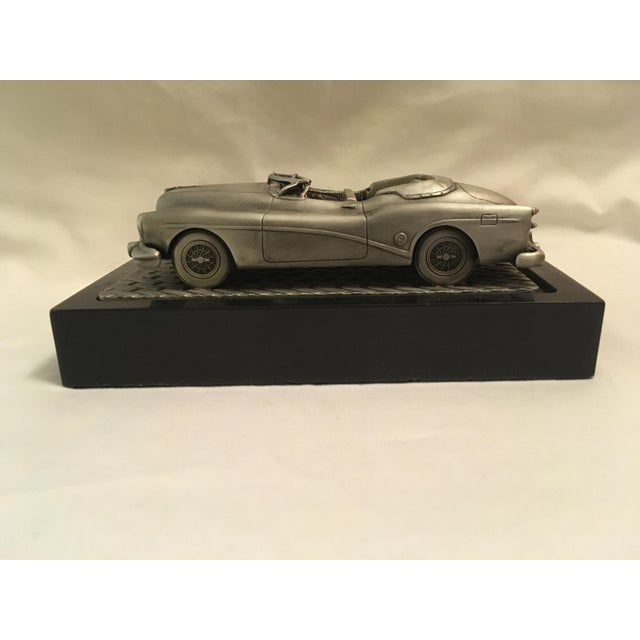 Cool and unusual pewter scale model 1953 Buick Convertible! Marked by the artist C. Rufo and numbered.......#6865 Car is 5...