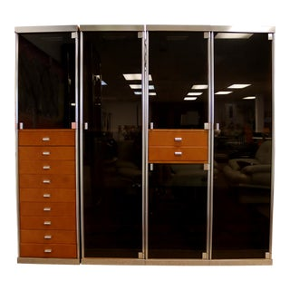 Mid Century Modern Guido Faleschini Pace Mariani Wardrobes Cabinets 1970s - Set of 4 For Sale