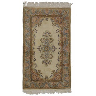 Hand-Knotted Wool Persian Kerman - 2′11″ × 5′1″ For Sale