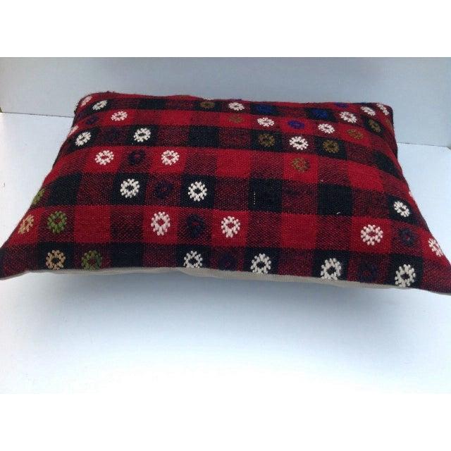Vintage Turish Kilim Pillow For Sale - Image 4 of 6