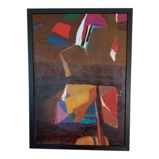 """""""Prary Erth"""" Contemporary Abstract Oil Painting, Framed For Sale"""