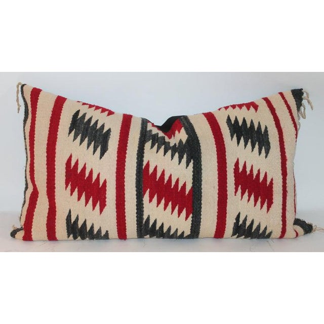 Boho Chic Navajo Saddle Blanket Bolster Pillows - Collection of 3 For Sale - Image 3 of 13