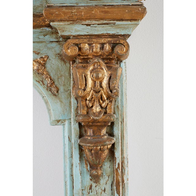 19th Century Venetian Painted Mirror Frame or Picture Frame For Sale - Image 10 of 13