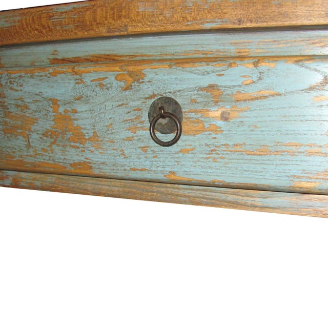 Distressed Blue Table - Image 4 of 7