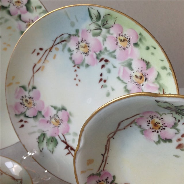 Antique Wild Rose Bavaria Porcelain Dishes - S/29 For Sale In Chicago - Image 6 of 9