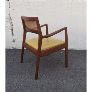 Jens Risom Style Walnut Cane Back Armchair Preview