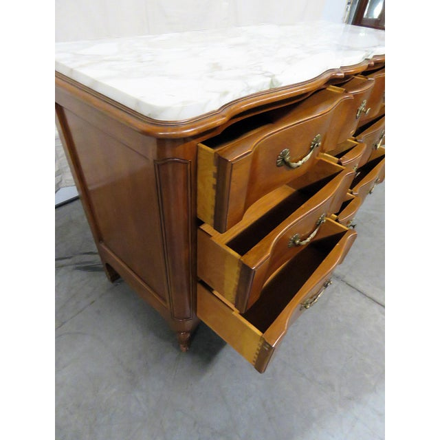 Brown 20th Century Country Bodart Marble Top Dresser For Sale - Image 8 of 12