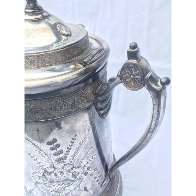 19th Century 1870s Reed & Barton Victorian Silverplated Water Pitcher For Sale - Image 5 of 13
