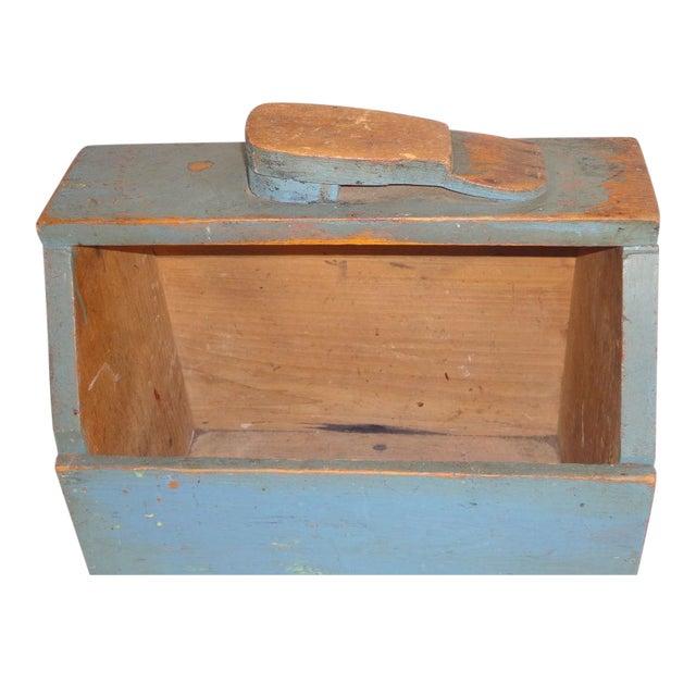 19th Century Original Blue Shoe Shine Box from Maine - Image 1 of 6