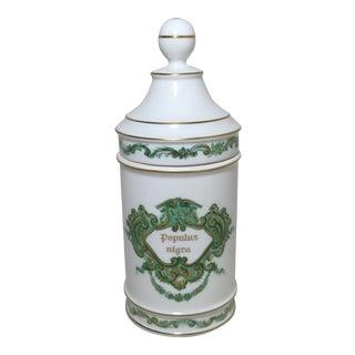Fine Antique Portuguese Porcelain Druggist Apothecary Jar For Sale