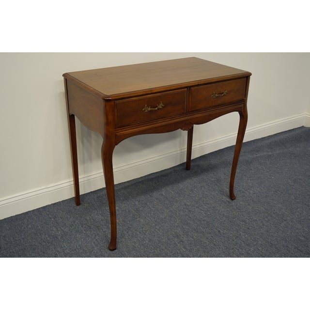"""French 1960s Vintage Antique Country French Walnut 35"""" Vanity For Sale - Image 3 of 12"""