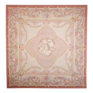 """Pasargad Aubusson Hand Woven Wool Rug - 9' 1"""" X 9' 1"""""""