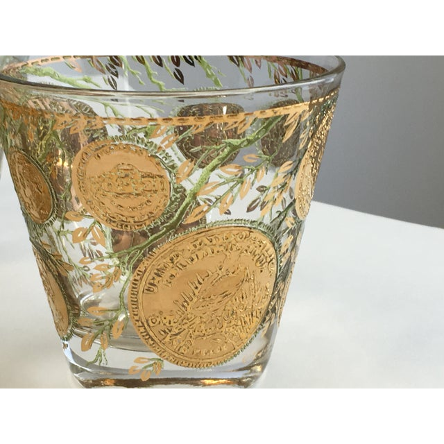 Culver Gold Liberty Coin Glasses - Set of 8 - Image 6 of 7