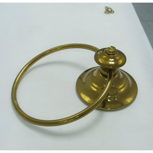 Mid-Century Modern Mid-Century Modern Brass Towel Ring For Sale - Image 3 of 7