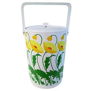 Yellow Poppies Ice Bucket