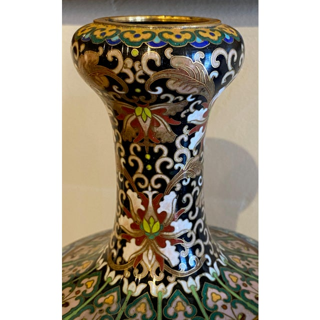 19th Century Chinese Cloisonné Vases-a Pair For Sale - Image 4 of 10