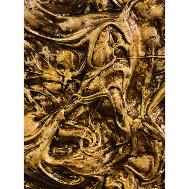 Harald Marinius Olson Untitled Abstract With Gold Acrylic on Canvas For Sale In New York - Image 6 of 13