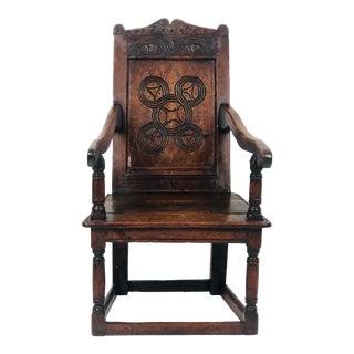 Charles II Oak Armchair, England Circa 1680 For Sale