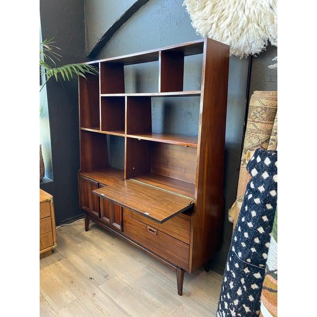 Mid-Century Modern Mid-Century Modern Danish Bookcase With Secretary Desk For Sale - Image 3 of 11