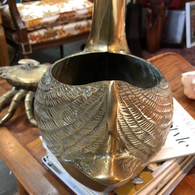 Silid Brass Swan Planter For Sale - Image 9 of 10