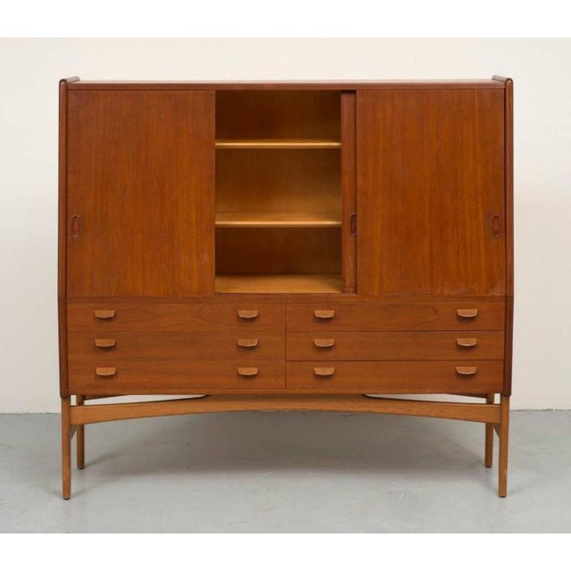 Poul Volther Tall Teak Cabinet - Image 6 of 10