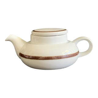 Vintage Mid Century Modern Martin Hunt Design for Bing & Grondahl Danish Teapot For Sale