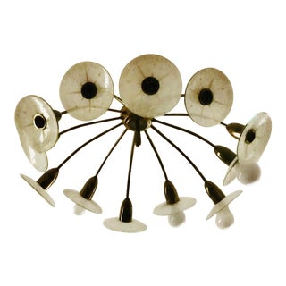 1950s Lightolier Claremont Sunburst Chandelier For Sale