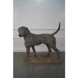 """19th Century Antique J.W. Fiske Zinc """"Morley's Dog"""" Statue Preview"""