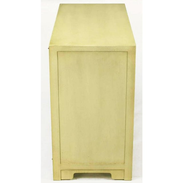 Baker Furniture Company Pair Baker Far East Collection Ivory Glazed Mahogany Cabinets For Sale - Image 4 of 10