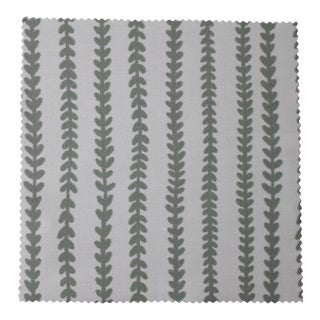 Hajarie Tiny Vines Fabric, Sample, Sage in Linen & Cotton For Sale
