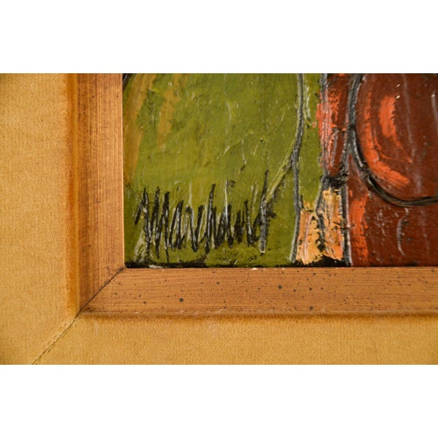 """Abstract Phillipe Marchand """"3 Pregnant Women"""" Mid-Century Cubist Oil Painting For Sale - Image 3 of 7"""