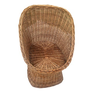1970s Vintage Wicker Chair For Sale