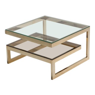 Brass G Side or Coffee Table For Sale