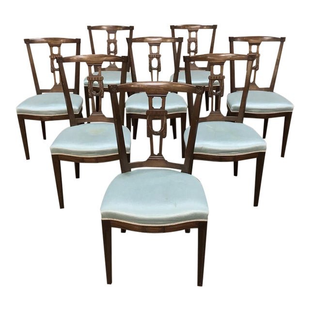 Antique Hepplewhite Dining Chairs - Set of 8 For Sale