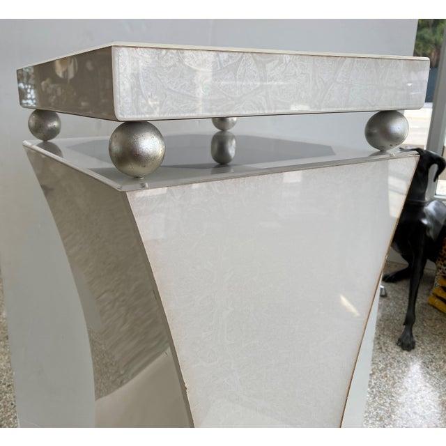 "40"" Art Deco Style Illuminated Pedestal For Sale - Image 4 of 13"