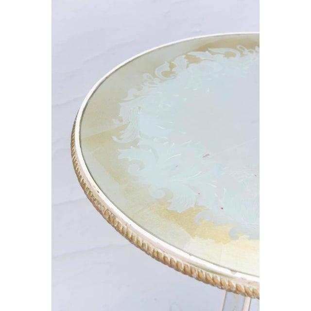 Italian Églomisé Occasional Pedestal Table For Sale - Image 4 of 12