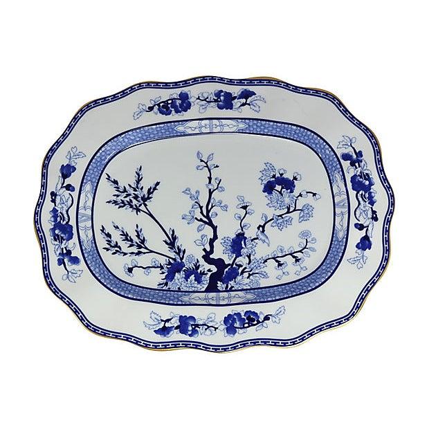 Asian Vintage Coalport Blue Tree Platter For Sale - Image 3 of 3
