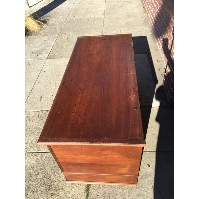18th Century American Cherry Blanket Chest Trunk For Sale - Image 4 of 12