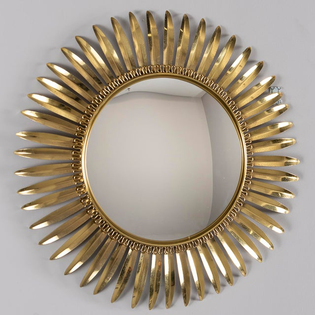 Vintage Italian Metal Starburst With Convex Mirror For Sale - Image 10 of 10