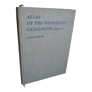 1960s Vintage Atlas of the Heavens II Catalogue 1950.0 Oversize Book by Antonin Beaver For Sale