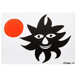 Alexander Calder Red Sun Lithograph For Sale