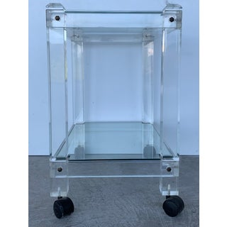 French 1970s Plexiglass Lucite Drink Bar or Dessert Cart Preview