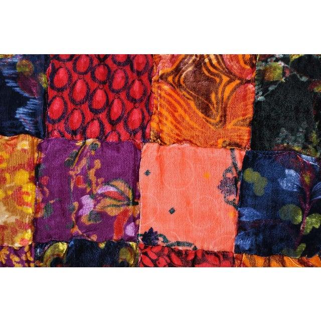 Vintage Boho Quilted Velvet Bedspread - Image 7 of 10