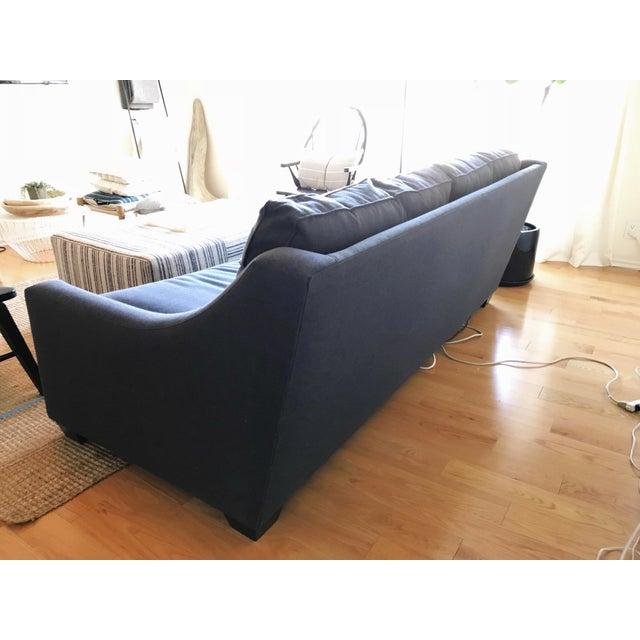 Navy Blue Custom Sofa - Image 4 of 8