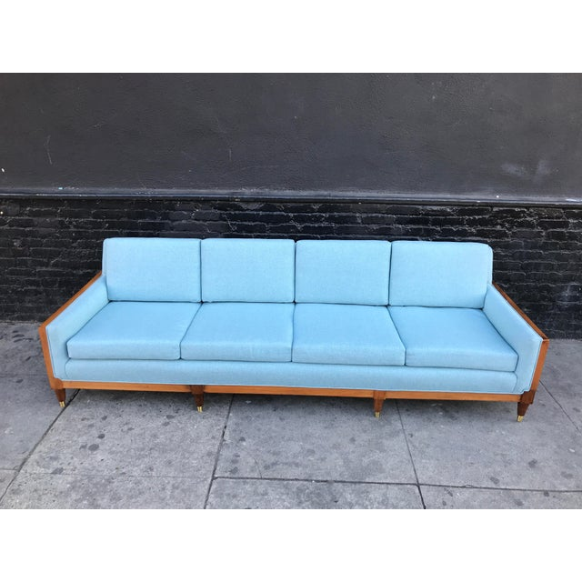 Vintage Mid Century Long Sofa For Sale - Image 10 of 13