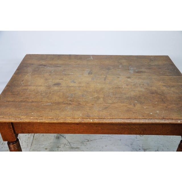 Farmhouse Vintage French Oak Farmhouse Dining Table For Sale - Image 3 of 9