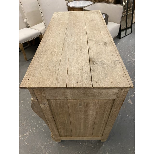 Shabby Chic 1850s French Empire Bleached Commode For Sale - Image 3 of 10