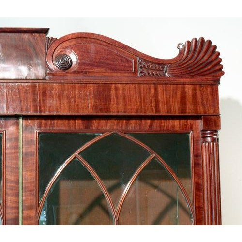 English William IV Mahogany Secretary Bookcase For Sale - Image 6 of 11