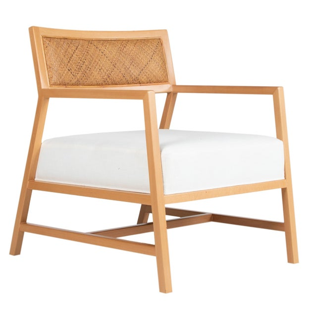 Brown David Francis Furniture Metro Lounge Chair, Natural For Sale - Image 8 of 8
