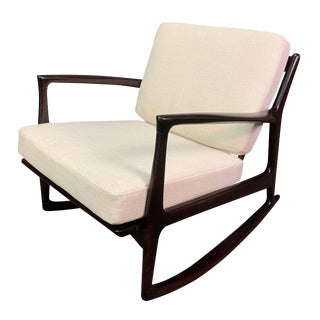 Vintage Danish Mid Century Modern Rocking Chair by Kofod Larsen for Selig For Sale